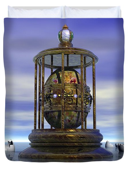 Sixth Sense - Surrealism Duvet Cover
