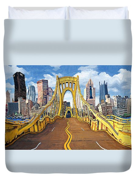Sixth Street Bridge, Pittsburgh Duvet Cover