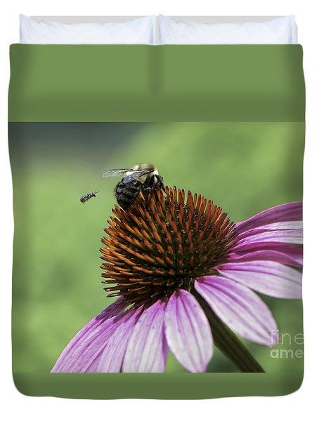 Duvet Cover featuring the photograph Size Matters by Andrea Silies