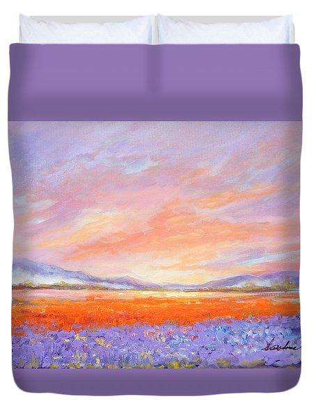 Skaggit Valley Tulips Duvet Cover