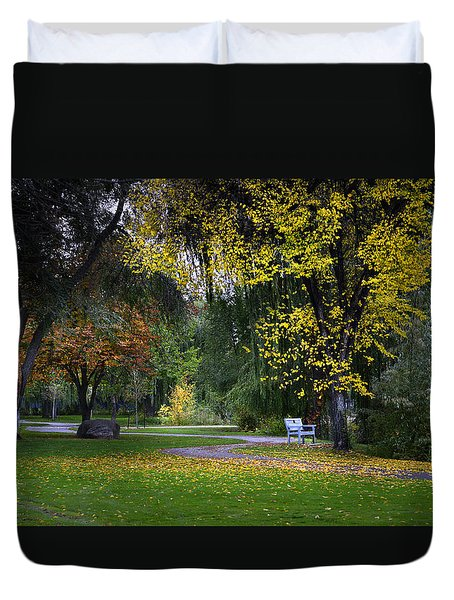 Skaha Lake Park Duvet Cover