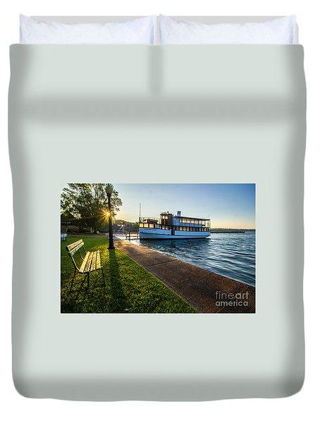 Skaneateles Lake Sunrise Duvet Cover