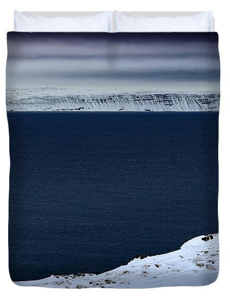 Skardsviti Lighthouse, Iceland Duvet Cover