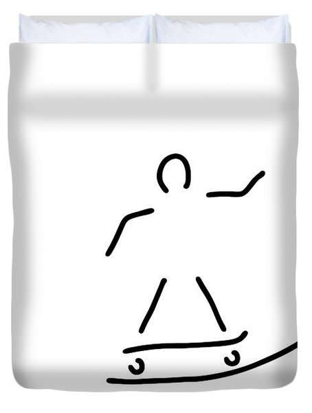 Skateboard Driver Halfpipe Duvet Cover