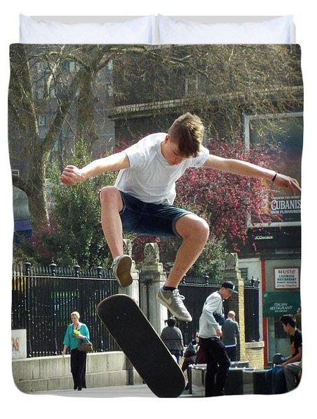 Skateboarding Duvet Cover