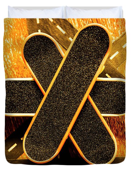 Skateboarding Star Duvet Cover