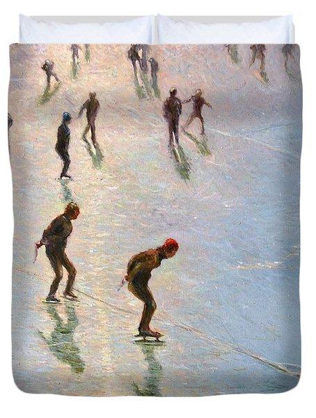 Skating In The Sunset  Duvet Cover