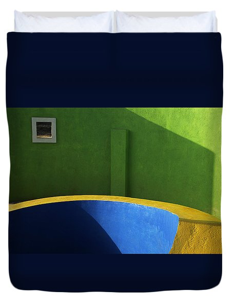 Skc 0305 The Fundamental Colors Duvet Cover by Sunil Kapadia