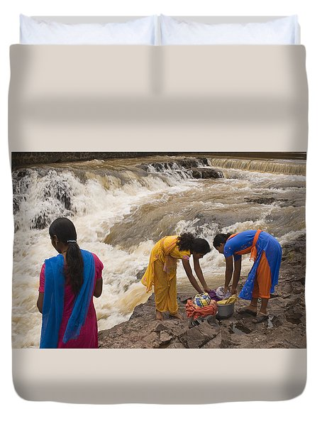 Skc 2621 A Collective Task Duvet Cover by Sunil Kapadia