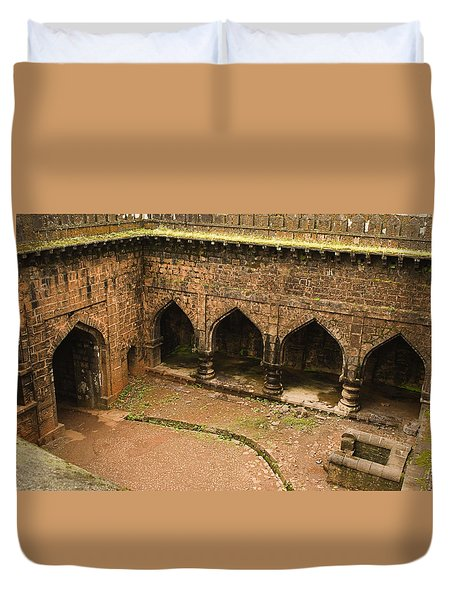 Skc 3278 The Ancient Courtyard Duvet Cover by Sunil Kapadia