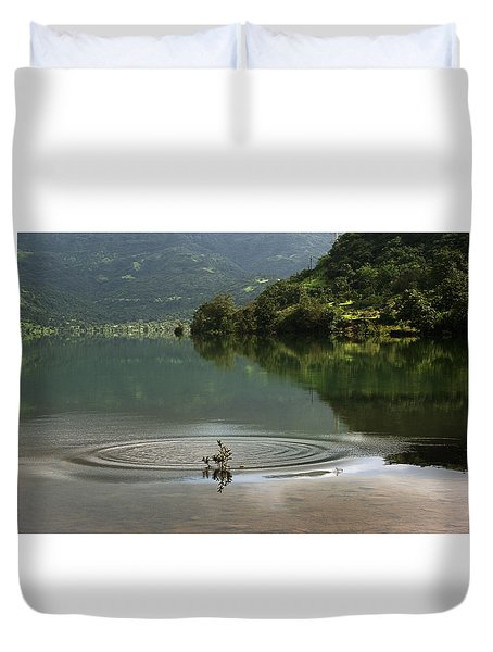 Skc 3996 At The Edge Of A Circle Duvet Cover by Sunil Kapadia