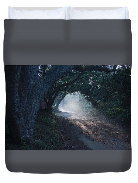 Skc 4671 Road Towards Light Duvet Cover by Sunil Kapadia
