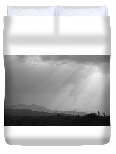 Skc 4928 Blessings Are Showering Duvet Cover by Sunil Kapadia