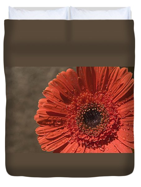 Skc 5127 The Heart Of The Gerbera Duvet Cover by Sunil Kapadia