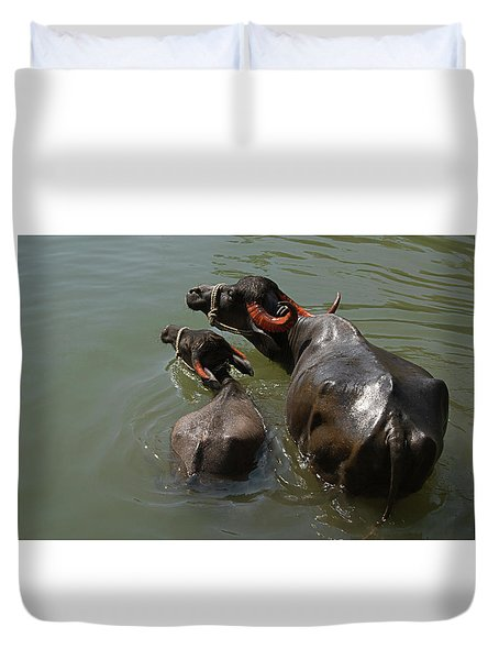 Skc 5603 The Coolest Way Duvet Cover by Sunil Kapadia