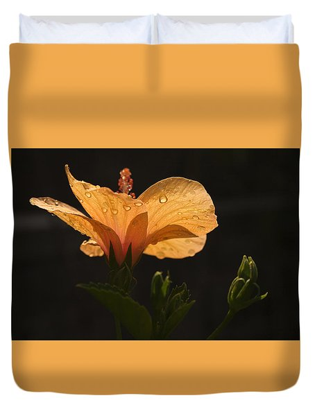 Skc 9937 The Grace Of Hibiscus Duvet Cover by Sunil Kapadia