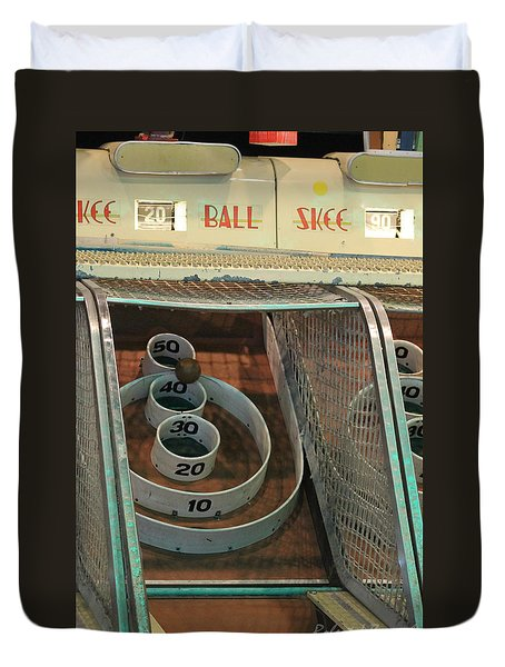 Skee Ball At Marty's Playland Duvet Cover
