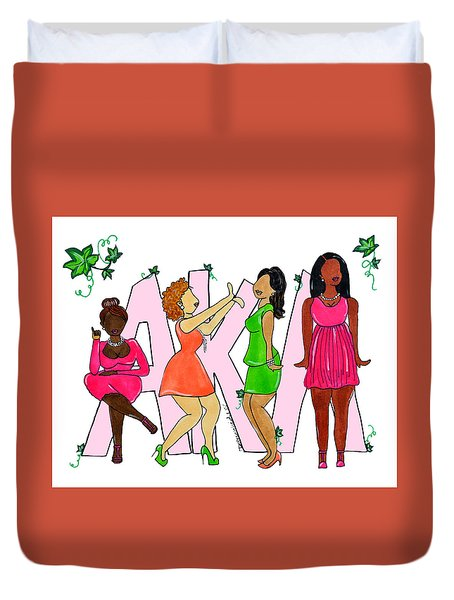 Skee Wee My Soror Duvet Cover by Diamin Nicole