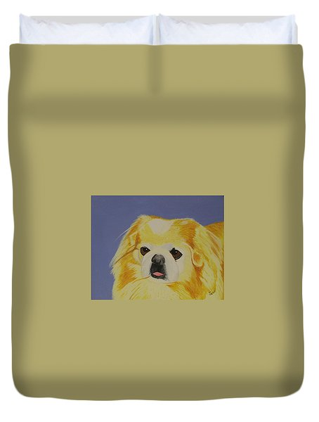 Skeeter The Peke Duvet Cover