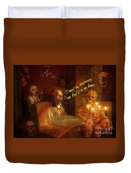 Skeleton Card 2016 Duvet Cover