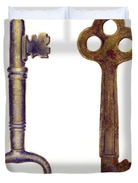 Skeleton Keys Duvet Cover