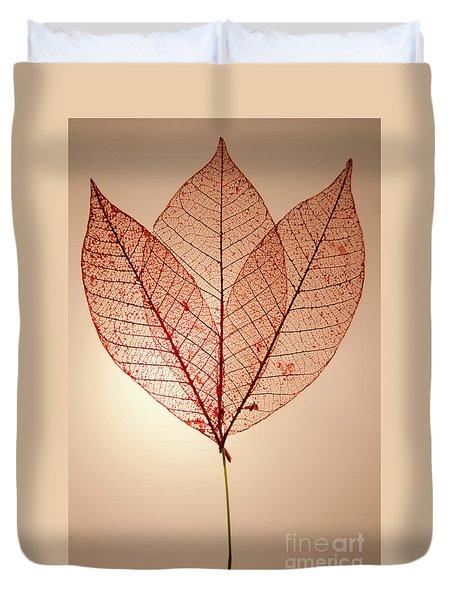 Skeleton Leaves Duvet Cover