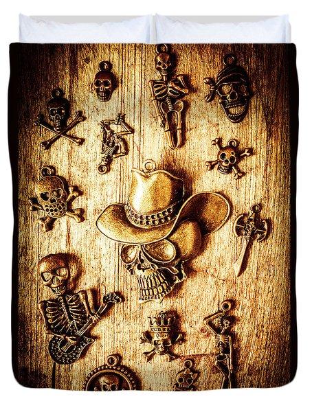 Skeleton Pendant Party Duvet Cover
