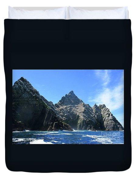 Skellig Islands 2 Duvet Cover by Crystal Rosene