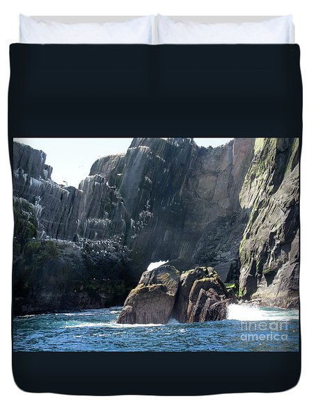 Skellig Islands 3 Duvet Cover by Crystal Rosene