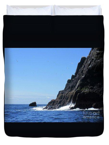 Skellig Islands 4 Duvet Cover by Crystal Rosene