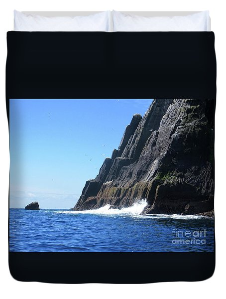 Skellig Islands 5 Duvet Cover by Crystal Rosene