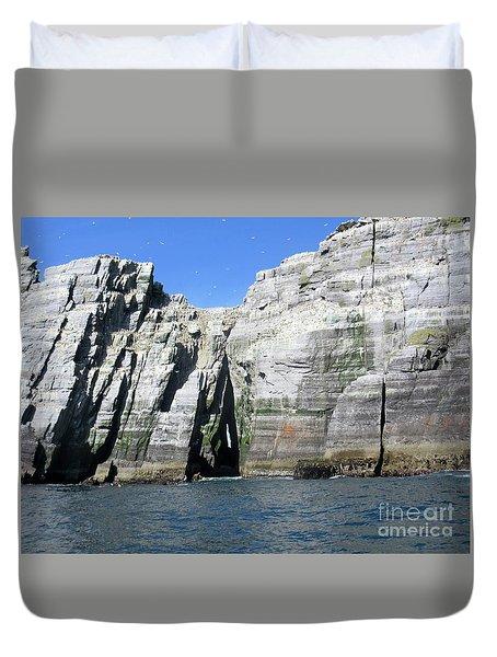 Skellig Islands 6 Duvet Cover by Crystal Rosene