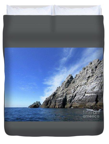 Skellig Islands 7 Duvet Cover by Crystal Rosene