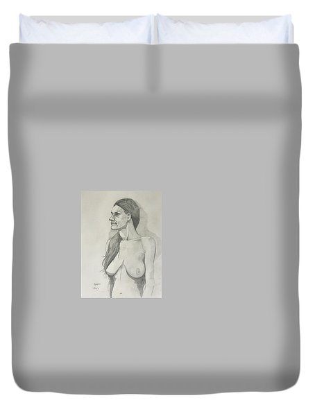Sketch Mary Lying Duvet Cover