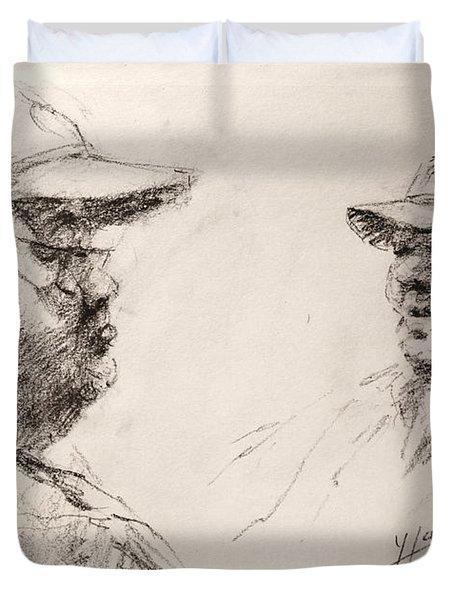 Sketch Man 10 Duvet Cover