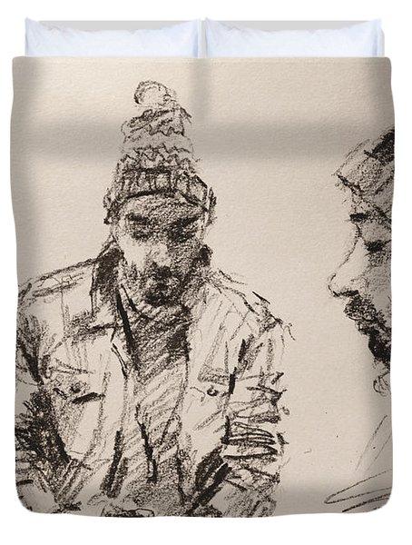 Sketch Man 13 Duvet Cover