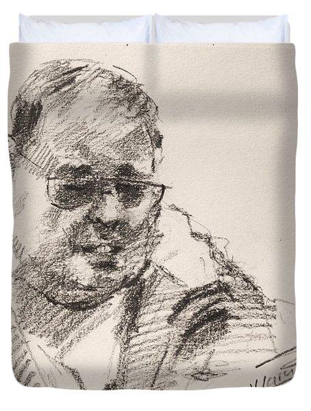 Sketch Man 14 Duvet Cover