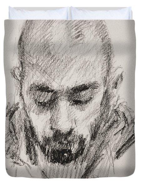 Sketch Man 16 Duvet Cover