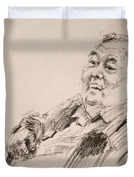 Sketch Man 20 Duvet Cover
