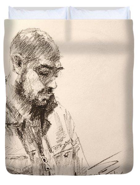 Sketch Man 9 Duvet Cover