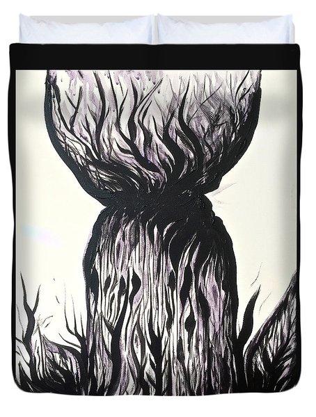 Sketchy Latte Stone Duvet Cover