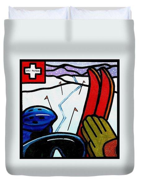 Ski Patrol Duvet Cover