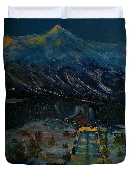 Ski Resort Duvet Cover
