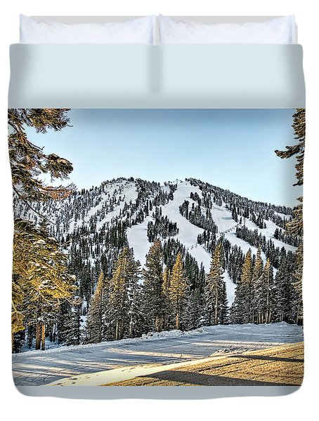 Ski Runs Duvet Cover