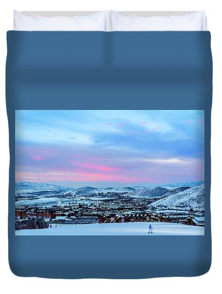 Ski Town Duvet Cover