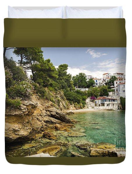 Skiathos Island Greece Duvet Cover
