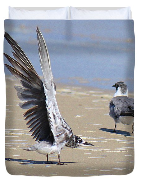 Skiddish Black Tern Duvet Cover
