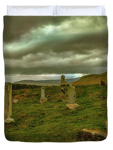 Skies And Headstones #g9 Duvet Cover