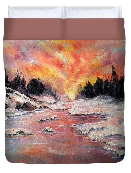 Skies Of Mercy Duvet Cover by Meaghan Troup
