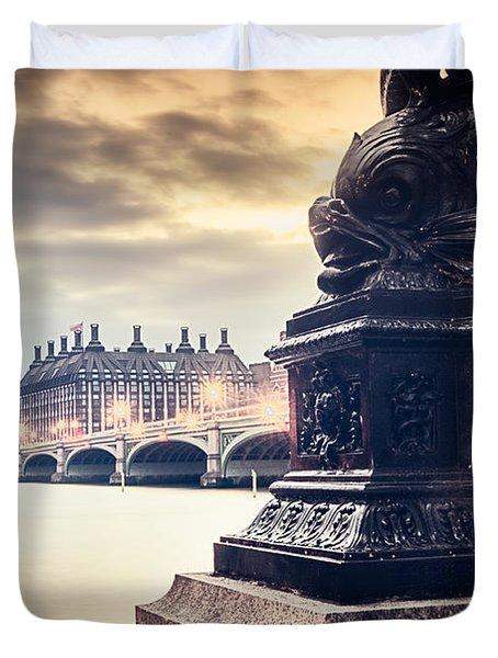 Skies Over London Duvet Cover